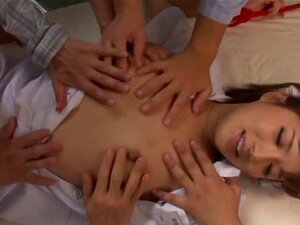 Kokone Mizutani adores bondage very much, Filthy and very naughty Japanese AV model Kokone Mizutani is acting this time as a wild nurse. Our hot MILF is obviously in love with group action and hereby spreads her legs without any hesitation at all! Passionate fingering and pussy licking are gonna make her cum!