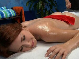 Slippery and sensual massage. Beauty is experiencing wild tremors from dudes lusty massage