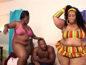 อ้วน และบีบีซี มากง่าย ๆ ขนาดใหญ่สามเส้าใหญ่อ้วนและ BBC Farrah Fox และซาบริน่ารัก