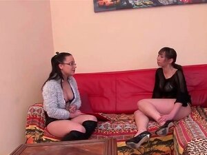 FFM First time anal casting couch of a pretty tall french