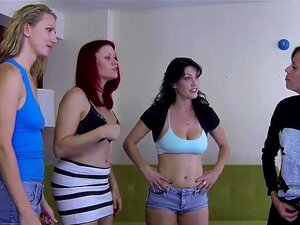 4 Pretty girls play a game of strip dice