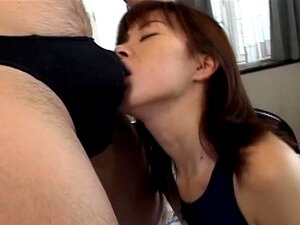 Horny MiLF Yui Sarina gobbles a hard dick inside a bathing suit before she is fucked