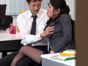 Hottest Japanese girl Rei Kitajima in Crazy stockings, blowjob JAV clip,