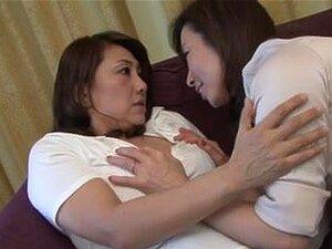 Mature lesbians (censored), Mika Matsushita (53) & Ikumi Kondo (54)