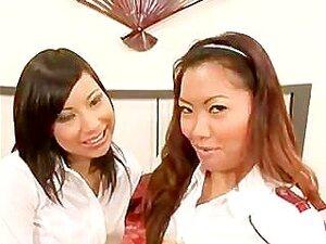 2 Asian Girls & 1 Guy