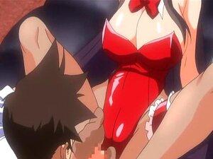 ทารก Hentai ในชุด bunnygirl ขี่เย็ด