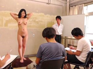 Subtitled CMNF ENF shy Japanese milf nude art class in HD, Weird Japanese game show where a Japanese milf with sagging breasts is instructed to strip for a nude art class and masturbate while students sketch out her embarrassment in HD with English subtitles