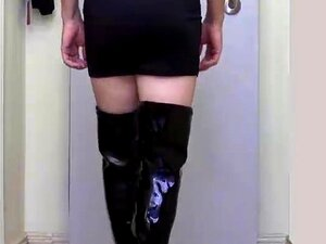 เจด CD - รองเท้าบูทสีดำ