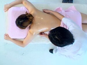 Lovely Jap babe banged hard in spy cam massage room video, Lovely and more than fuckable Japanese slut gets her nice tight slit filled with cock in this kinky and arousing hidden cam massage video and it looks quite nice and exciting.