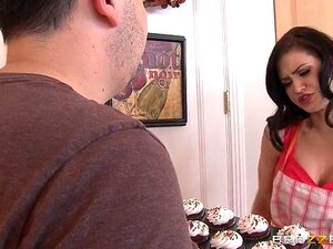 Big Tits at Work: Cooking With Kendall. Kendall Karson, Preston Parker. Preston Parker is a TV producer who is trying to make the next big cooking show. The higher-ups at the network demanded he work with Kendall Karson, but so far it's not going very well. There's no denying that she has some beautiful big tits, but the problem is, she's treating the crew like garbage! Before the whole crew walks off set, Preston decides to take matters into his own hands by giving Kendall what she really needs: some nice fat cock! She gets on her knees to suck that dick with some sweet icing on it, and then climbs up on the counter to get fucked wearing nothing but a sexy pair of black stockings!