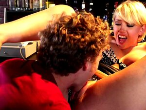 Kagney Linn Karter & Michael Vegas in I Have a Wife. Kagney Linn Karter has had a rough day at the bar where she works. It seems that everyone who entered the bar that day was either named Paul or Pauline. Her final patron of the night is ready to leave since his wife stood him up, but Kagney can't seem to find his ID which she was holding for him. She feels terribly sorry for the mistake and is willing to find a way to make it up to him. Since he was stood up by his wife, Kagney decides that the best way to make it up to him is by fucking his brains out in the middle of the bar.