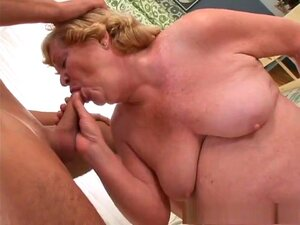 Horny pornstar in best cumshots, creampie adult video, Alice is a BBW grannie, who loves giving guys, one third her age a blowjob. Next, this floppy boobed blonde lays on her bed and lifts one leg, allowing this horny stud to slip his hard pole into her muff, fucking her until she wants to get on all fours and let her hooters swing, while he's fucking her from the back, before he gives her a creampie filling cumshot.