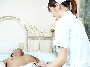 beauty japanese nurse Hijiri Kayama gets oral cumshots