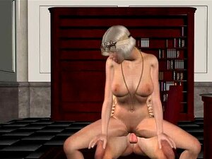 Classy 3D babe sucks cock and gets fucked hard