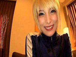 Japanese babe Mihono  gets off with hunk guy and gets to handjob