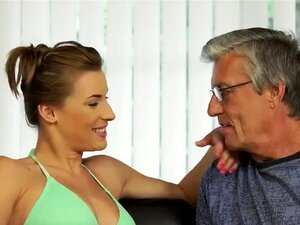 Hot daddy xxx Sex with her boyboss´s father after swimming pool