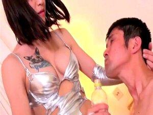 Japanese ladyboy dominates dude with anal