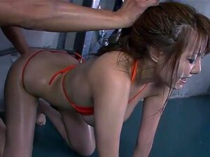 JavOnDemand Video: Yuna Hirose Part 3, Yuna Hirose is sprawled on the floor in an orange bikini. A man reaches out with a sex toy and begins to masturbate her. Another joins him, and more, until a multitude of men are gathered around her, each of them helping to masturbate Yuna, much to her obvious pleasure. When she can take no more she kneels between them, and the men eagerly step out of their shorts, offering their straining erections to her lips. Yuna sucks them men in turn, and turns her face up to them as they reach their climax and cum all over her face.