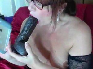 Black big cock for my old squirting twat