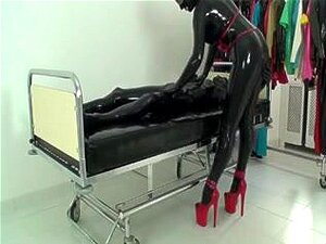 Rubber xxx sex video with latex whore with red heels, Hot free spandex porn movie in which a latex mistress with bad habits and weird fetishes does handjob and blowjob to her naughty partner who loves sex