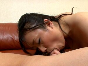 Hitomi Aizawa in fishnets is screwed, Half naked with her panty pulled to the side, Hitomi Aizawa got her hairy clam licked while getting finger drilled. She return the favor to her lover by sucking on her lover's already stiff boner. The  Hitomi hop on top of him, ride his dick and have its man-juice all inside her slit.