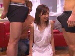 Hottest Japanese chick Kaori Maeda in Amazing Facial, Gangbang JAV movie