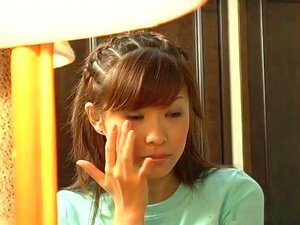 Shizuku Natsukawa in reverse cowgirl and swallowing