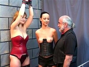 2 SADOMASOCHISM lesbo doxies eat snatch and spank for old boyfrend dominant