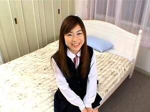 Ami in school uniform rubs joystick