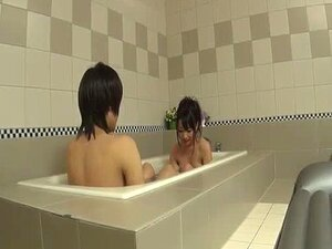 Japanese doll blows cock in the tub and swallows a warm load - More at Javh