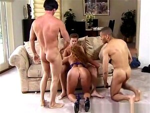 Horny pornstar Sana Fey in amazing dp, big tits xxx video. You're going to have the pleasure of watching the gorgeous redhead, Sana Fey as she takes off her bra and panties to get ready to have all three of her cock sockets penetrated, virtually making her air tight! She lets this group of guys squeeze her big tits and ass, until they fuck her butt, pussy and face, for a grand slam bukkake!