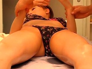 Amazing Jap chick nailed silly in spy cam Japanese sex video, Amazingly hot Japanese slut gets her nice snatch cracked open by her masseur.s pecker in this kinky and hot spy cam Japanese hardcore video and she looks more than happy about it.