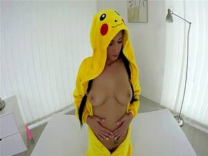 Sexy pokemon babe dildo fuck her pussy VR porn