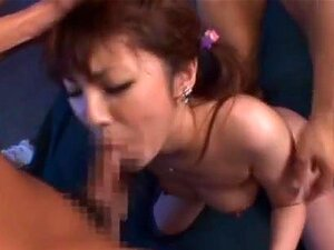 Tsubasa Amami Juicy Asian babe gets cum. Tsubasa Amami is a hot Asian MILF with a nice ass! She is into group action and she enjoys her threesomes! Her pussy is getting fingered while she is being kissed before she is sucking two cocks and giving hot headfucks to her horny guys! She is getting her cunt licked and she is sitting on face for a deep tongued pussy! The hardcore action starts when she gets a rear fucking, and a dick ride before her face is covered in cum! Tsubasa Amami enjoys bukkake!