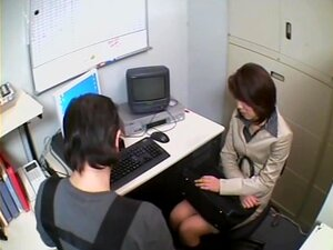 Hot babe blows dick in kinky spy cam office sex video, Very nice looking slim Japanese girl sucks on a boner in the office and it all gets caught in this hidden cam blowjob video. She seems to be able of providing great pleasure in this way.