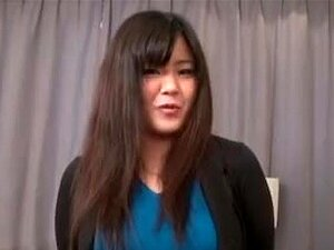 JAV body check striptease with curvy amateur Subtitled