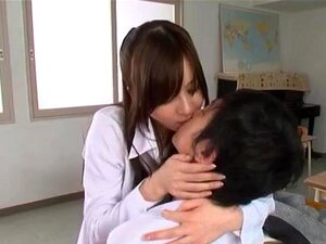 Lovely Yui Tatsumi teacher likes it deep and fast. Astounding Japanese teacher Yui Tatsumi gets nasty with her student after getting horny and eager to play. Sweetheart is amazingly hot and loves to shake her fine ass before letting him stick his dick up her tight vag, fucking her hard and making her moan like a tramp!